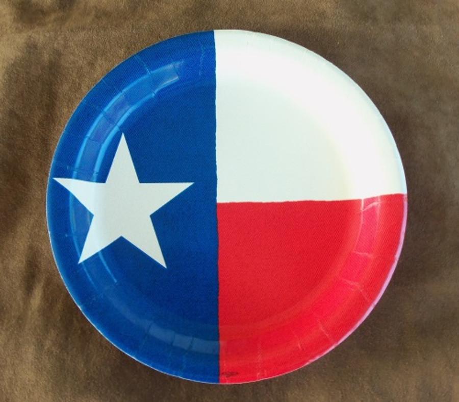 TX02001 - Texas Flag Plates