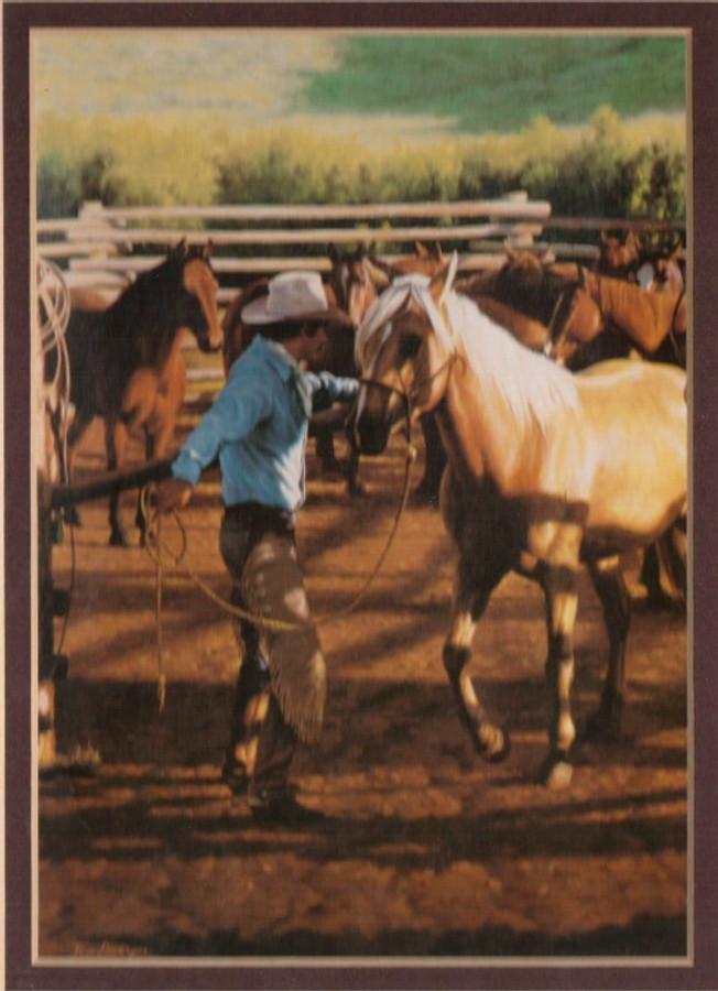 ART-SD-00001   Western Cowboy Print