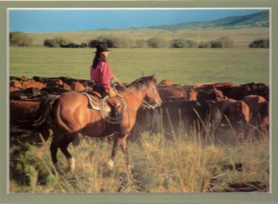 ART-CM-00001  Western Cowgirl Print