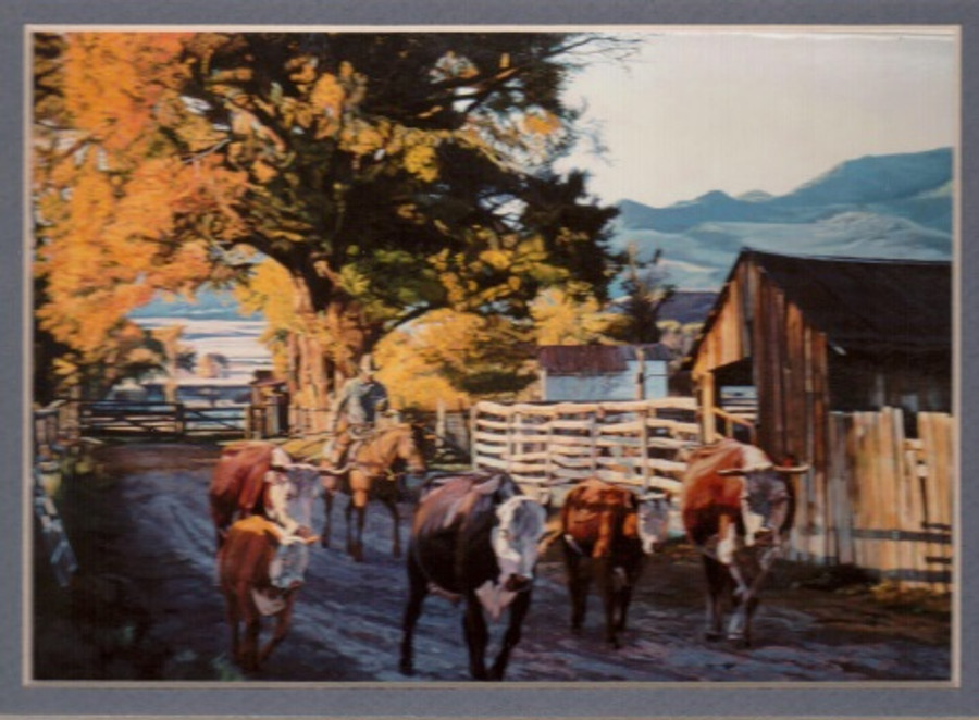 ART-WJ-00001   Western Cowboy Print