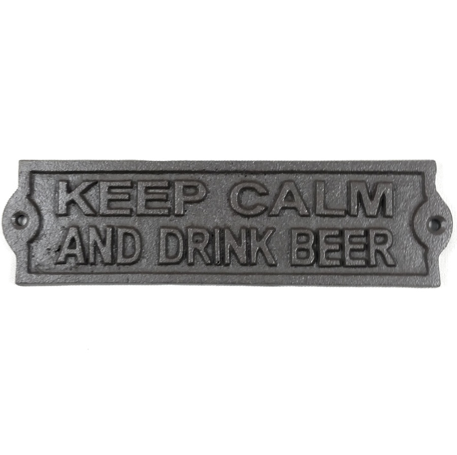 Western Signs & Plaques KEEP CALM AND DRANK BEER Rustic Decor