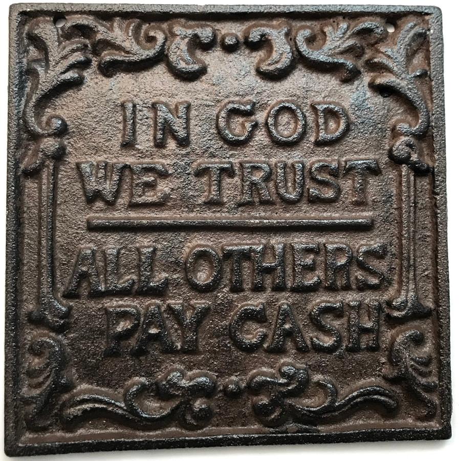 Plaque In God We Trust Decorative Wall Art