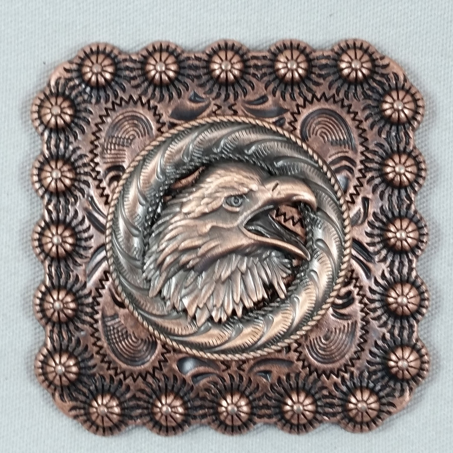 Square Berry Screaming Eagle Belt Buckle