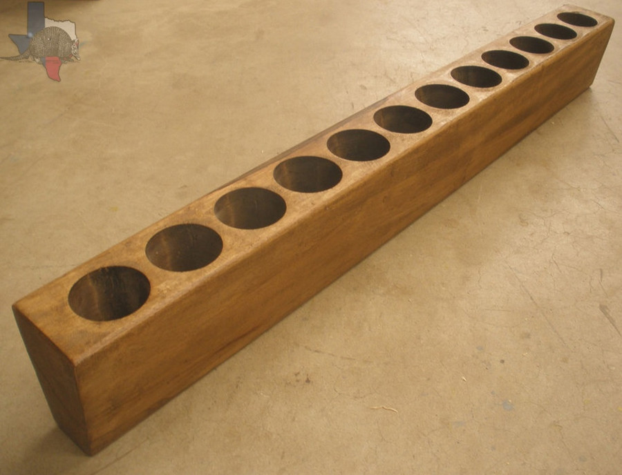 TWELVE (12) HOLE WOODEN MEXICAN SUGAR MOLD CANDLE HOLDER