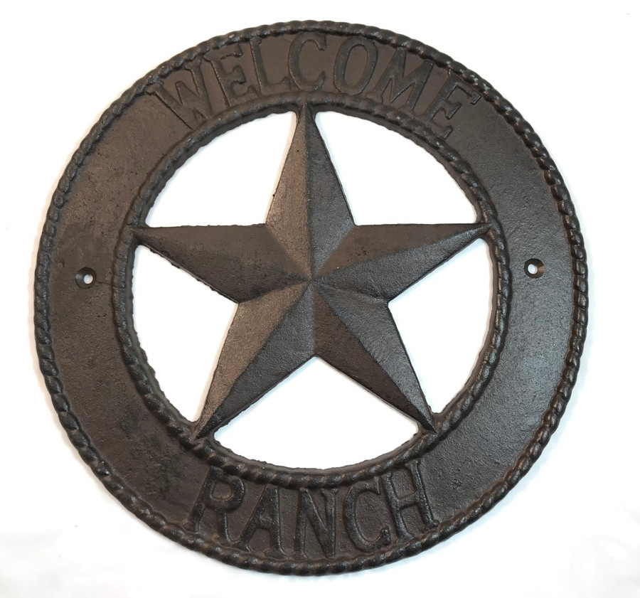 Rustic Metal Star Ranch Barn Wall Decor