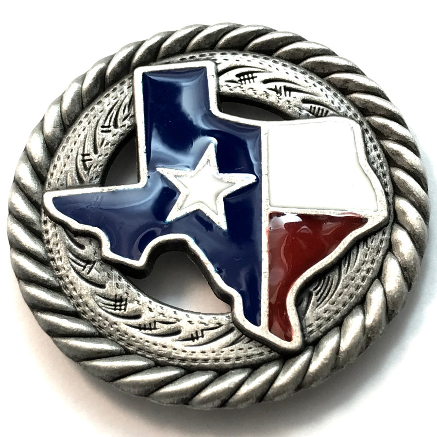 Texas Colors State Of Texas With Star Concho