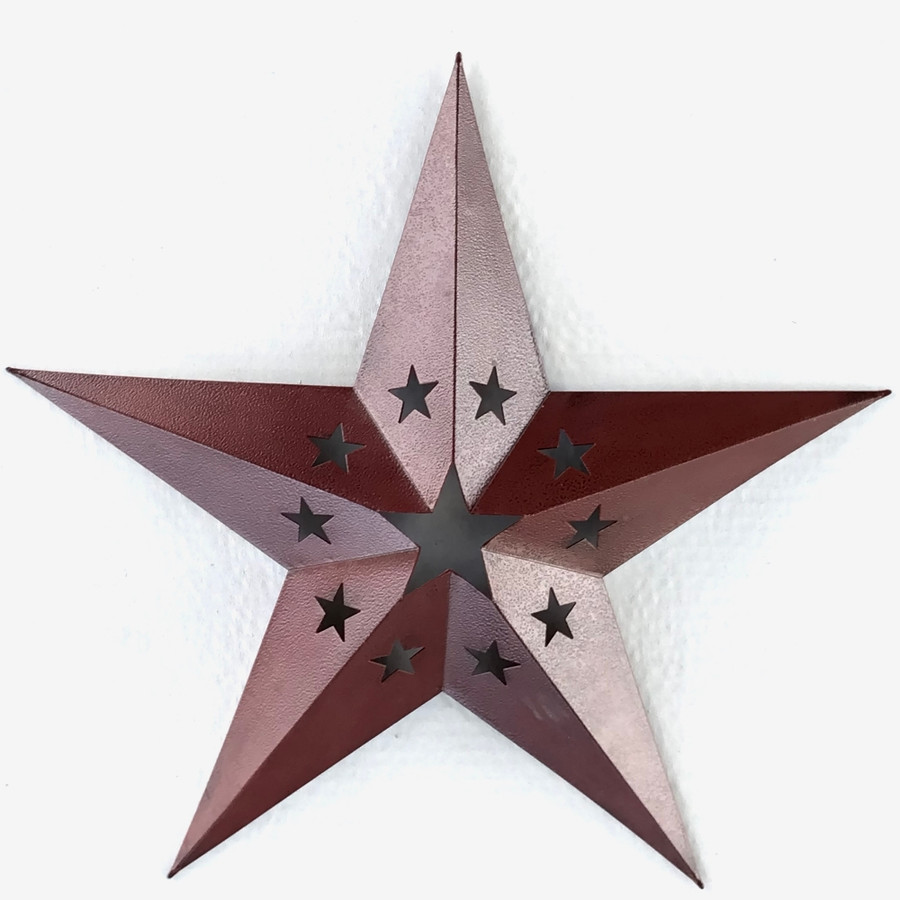 Metal Star Western Decor With Intricate Star Cut Out 24 Inch