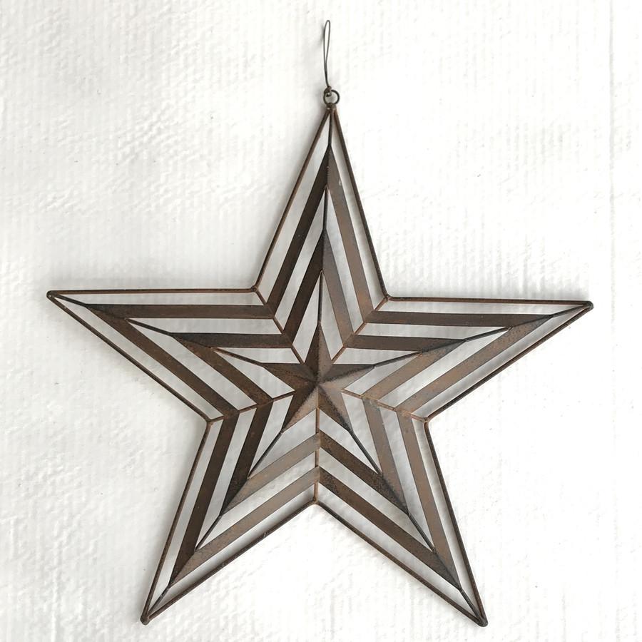 Rustic Metal Star Wall Art Home Decor