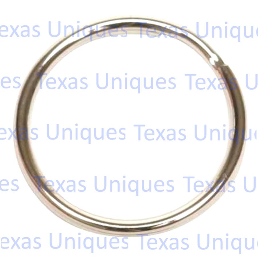 Split Key Ring Nickel 1-1/2 Inch