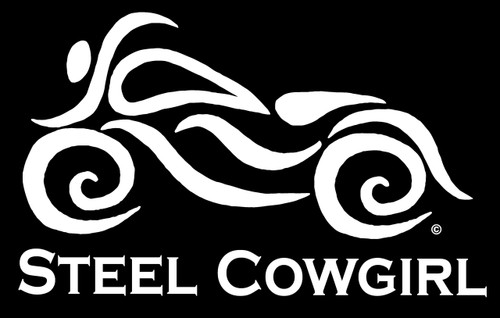 Steel Cowgirl Faux Etched Women S Motorcycle Window Decal