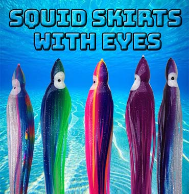 The Original Squid Skirts Translucent Lime H2O Fx LED Lighted Lure