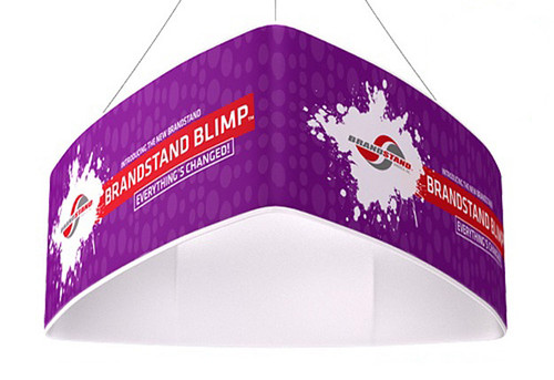 Blimp Curved Triangle Hanging Signs - Trio