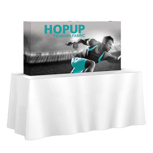 Hopup 5ft Shorty Tabletop Fabric Pop up Display