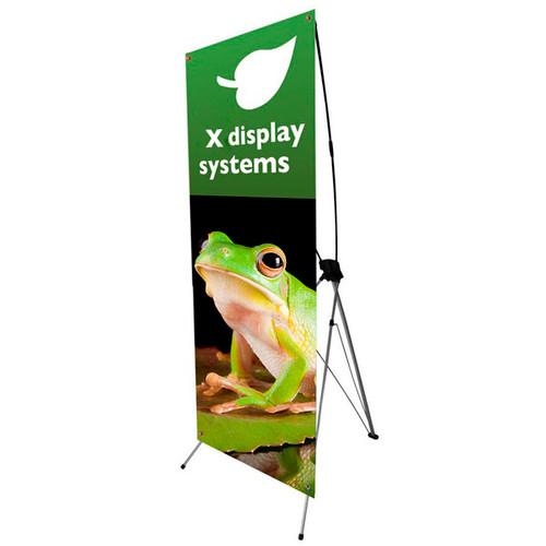 "X Banner Stand - Vinyl Graphic Size 24"" x 62"" h"