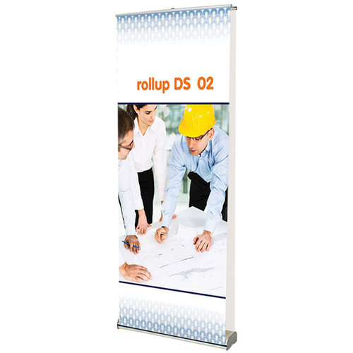 """rollup double sided 02 retractable banner stand 35.5""""w x 83.75""""h"""