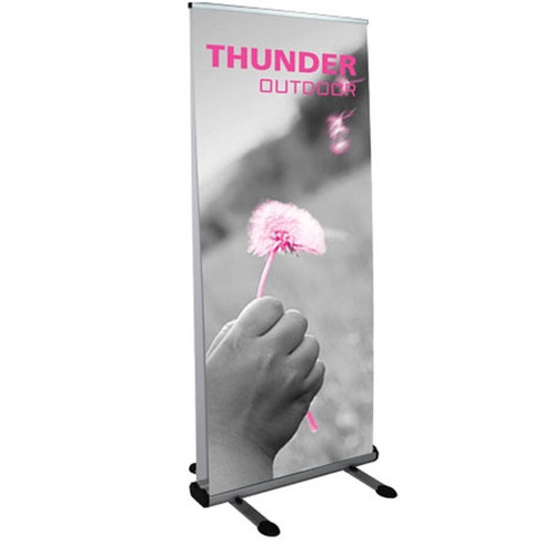 Large double-sided outdoor retractable banner stand