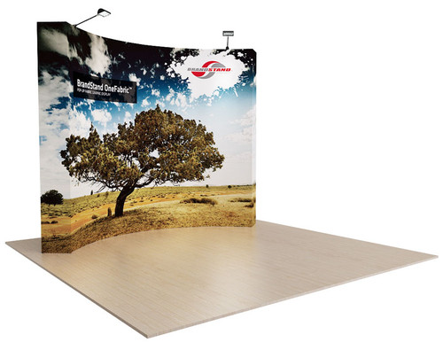 10ft OneFabric Curved Pop Up Display (OF043CK-P)