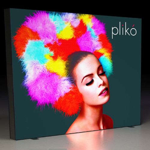 Pliko' BackLit 9ft Backwall Trade Show Display Dye Sub Printed Front & Unprinted Back Print