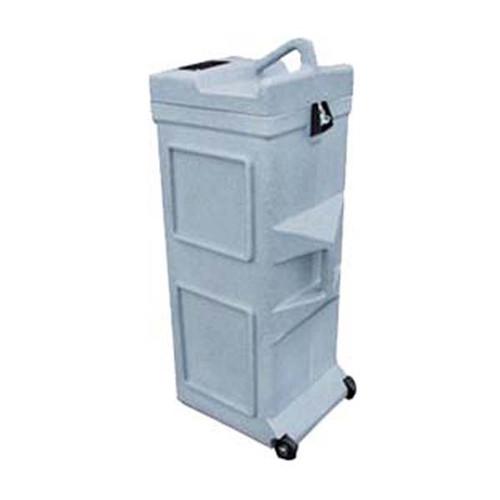 Small Square Gray Granite Roto-Molded Shipping Case w/Wheels