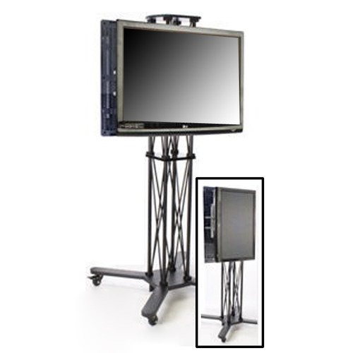 Monitor Stand Kiosk EZ Fold Duo Portable Workstation for 40-70 Inch TV's