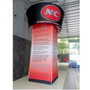 """Blimp Rotating Tapered 42"""" Blimp Square Tower Trade Show Display"""