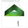 Triangle Hanging Banner 12ft - 36in with Outside Graphic