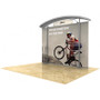 10ft Timberline Modular Display w/ Wave Top & Straight Fabric Sides (TL1002AFS)