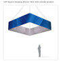 Square Hanging Banner 12ft- 36in with Outside Graphic