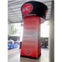 """Blimp Rotating Tapered 42"""" Blimp Triangle Tower Trade Show Display"""
