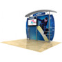 10ft Timberline Modular Display w/ Arch Top, Metal Fusion Curved wings and TV mount (TL1002AMFC-TV)
