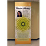 """33.5"""" Retractable Banner Stand up to 90"""" Tall"""