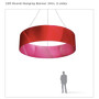 Round Hanging Banner 15ft - 24in with Outside Graphic