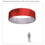 Round Hanging Banner 12ft - 48in with Outside Graphic