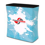 Waveline Counter Shipping Case Podium with Graphic