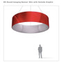 Round hanging Banner 8ft - 36in with Outside Graphic