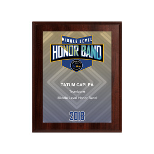 2018 KBA Middle Level Honor Band 8x10 Event Plaque