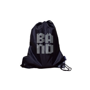 Band Poly Metallic Drawstring Bag