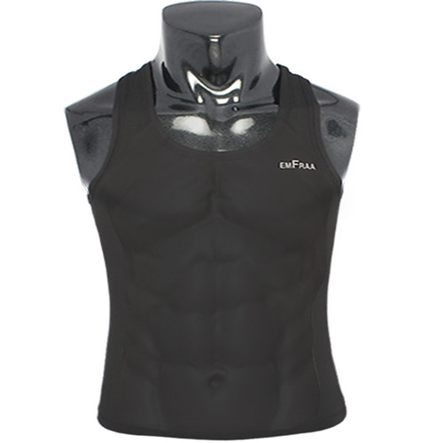 emfraa compression skin tight base layer black sleeve less