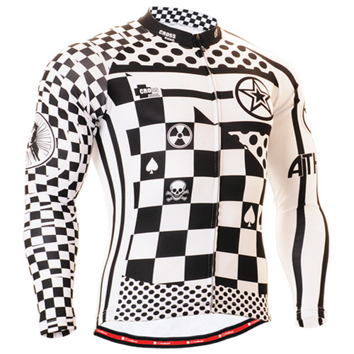 Fixgear cycling biking jersey printed check shirt for men