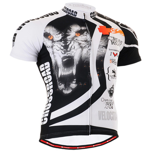 Fixgear cyclist biking wolf jersey short sleeve for men
