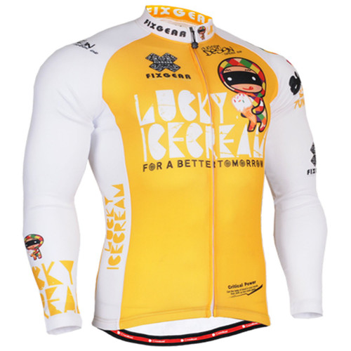Fixgear biking jersey yellow shirts