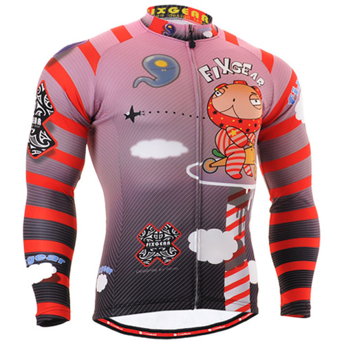 Fixgear cycling jerseys pink red shirts