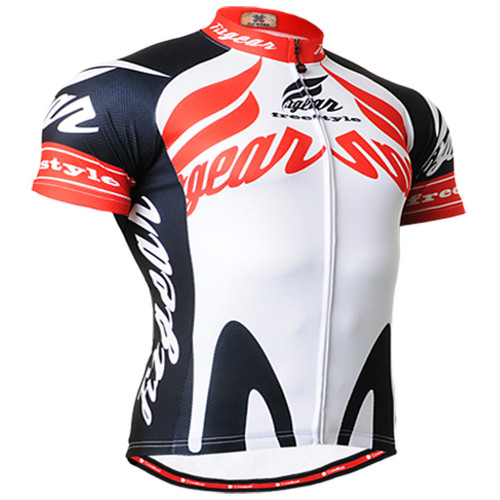Fixgear cycling biking jersey white shirts - short sleeve