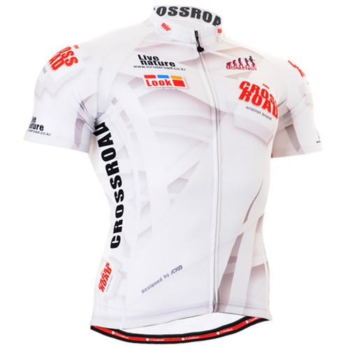 Fixgear cycling biking jerseys white shirts - short sleeve