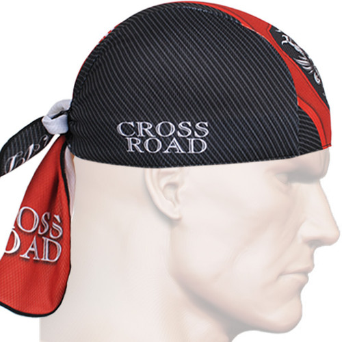 fixgear black red skull bandana biker head scarf caps