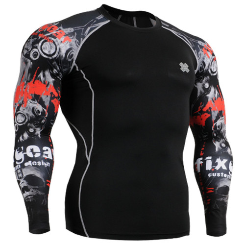 Compression base layer black shirts fixgear