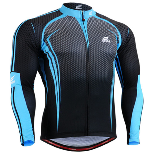 Fixgear print design biking Jersey sky blue black shirts