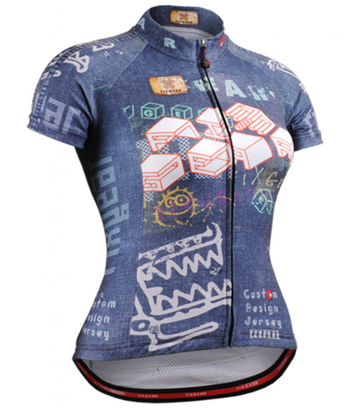 Fixgear jean style women's bicycle jersey