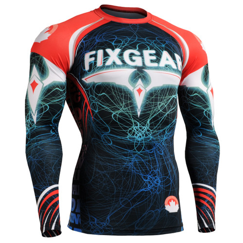 fixgear mma workout compression shirt