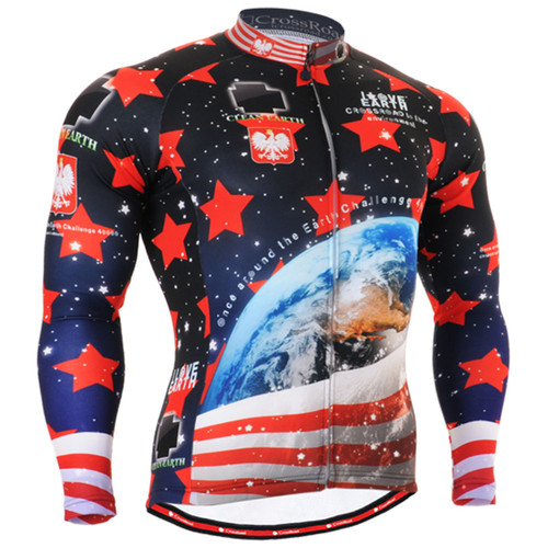 Fixgear mens winter cycling jersey long sleeve